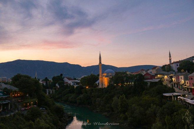 超級美的Mostar古城日落!